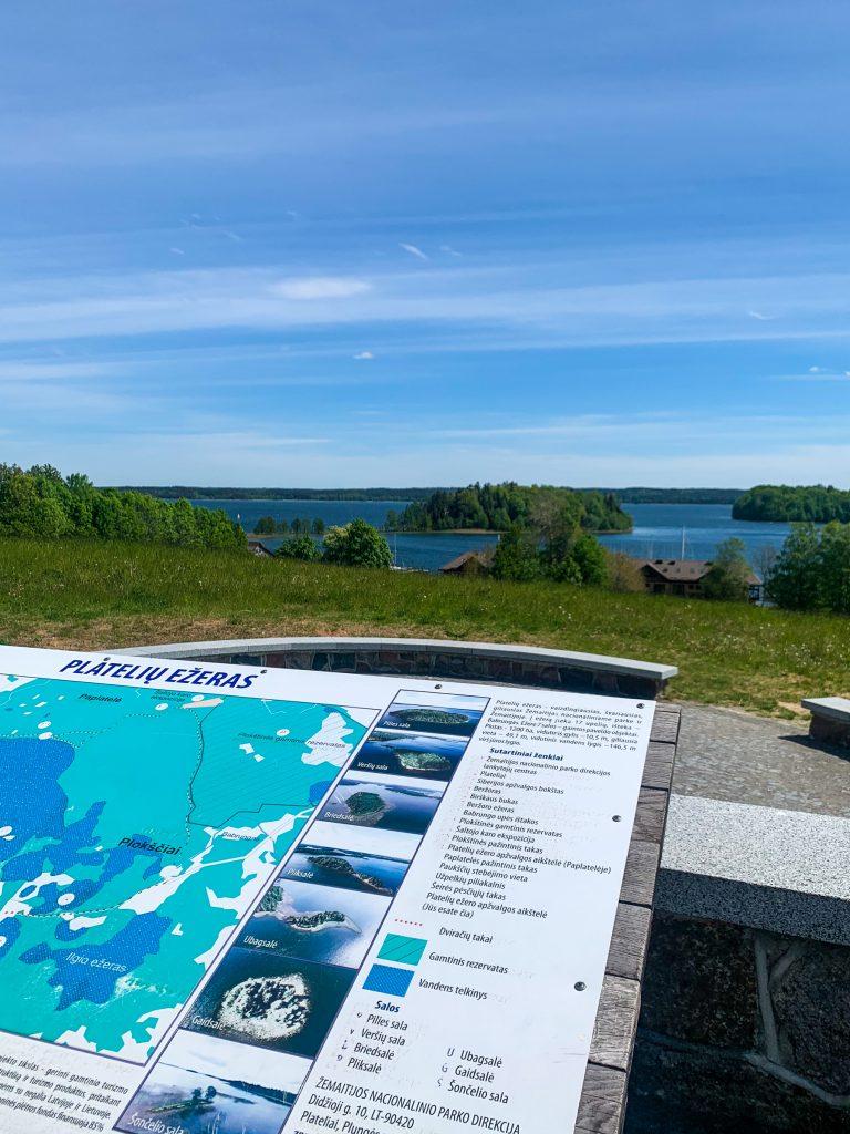 Platelių ežero apžvalgos aikštelė.